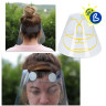 Face Shield - rPET Plastic - Clear - Front foams and adjustable band