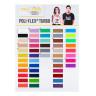 Poli-Flex® Turbo Heat Transfer Vinyl - Sample Pack - 50 Assorted Colours - Colour chart