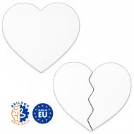 Sublimation Fridge Magnets - Heart shape - Wood