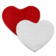 Housses de coussins cœur pour sublimation - Tissu peluche
