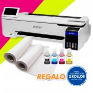 """Impresora de sublimación Epson SC-F501 - 24"""" con tintas fluorescentes y extensiones de garantía"""