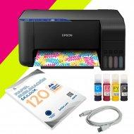 Impresora de sublimación A4 Epson ET-2711 Flúor - Kit ahorro