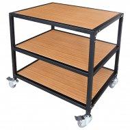 Mesa para planchas transfer con ruedas y estantes