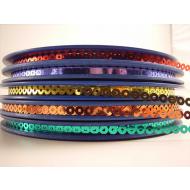Lentejuela circular Metalizada brillo