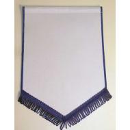 Banderín Escudo Raso 250x180mm Blanco Azul