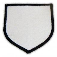 Parche Escudo Termoadhesivo 80x80mm Blanco Negro