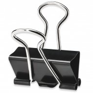 Binder Clips - 19mm - Metal - Pack of 10 units