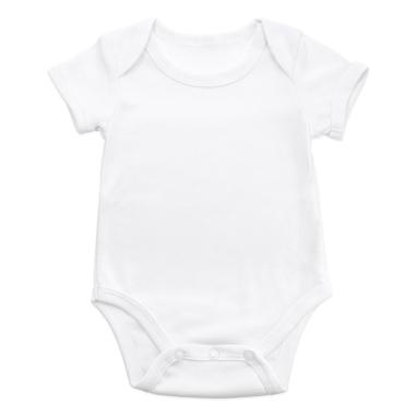 Body bébé pour sublimation à manches courtes - Toucher coton