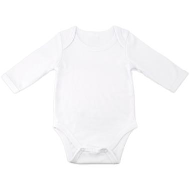 Body bébé pour sublimation à manches longues - Toucher coton
