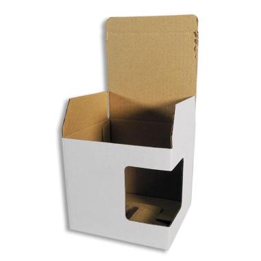 Boîte pour mugs avec fenêtre - Carton blanc - Lot de 12 unités