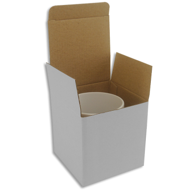 Boîte pour mugs sans fenêtre - Lot de 12 unités - Blanc