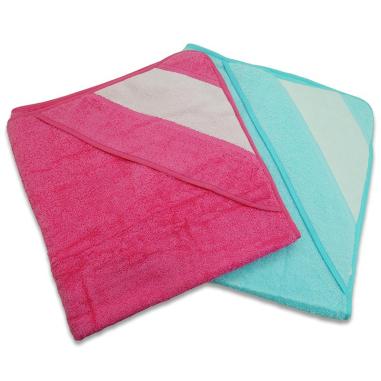 Capes de bain bébé pour sublimation - Tissu éponge 100% coton