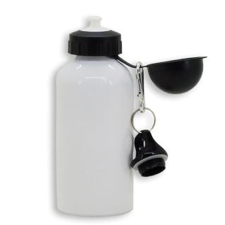 Gourde pour sublimation avec 2 bouchons - 500ml - Aluminium - Blanc