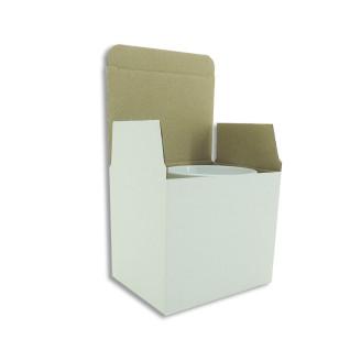 Boîte auto-montable pour mugs - Lot de 50 unités - Blanc