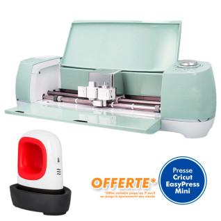 Cricut Explore Air 2 Mint - Machine de découpe - Presse Cricut EasyPress Mini offerte