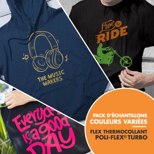 Flex thermocollant Poli-Flex® Turbo de Poli-Tape - 50 couleurs variées