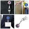 Accessoire porte-clés pour sublimation avec cordon extensible - Exemples de personnalisation et utilisation