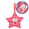 Décorations de Noël en tissu - Détails du plastique porte-photo