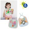 Bavoir bébé pour sublimation - Tissu - Exemple de personnalisation et utilisation