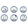 Tour de cou pour sublimation avec tissu antibactérien - Différents usages