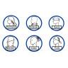 Tours de cou pour sublimation - 25 x 50 cm - Lot de 10 unités - Différents usages