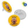 Badges par insertion d'image sans machine - Épingle et à poser - Ø 56 mm - Personnalisé