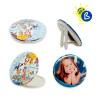 Badges ronds - Ø 75 mm - Badges personnalisé - Modèles : double miroir et à poser