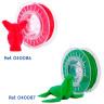 Filaments flexibles TPU pour imprimante 3D - Couleurs : rouge et vert
