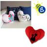 Housses de coussins cœur pour sublimation - Tissu peluche - Exemple personnalisé