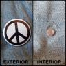 Aimant pour badges - Sac de 10 unités - Modèle d'application sur une veste