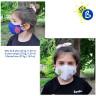 Masques de protection pour enfants - 3D - De couleurs - Exemples personnalisés