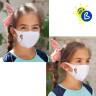 Masques de protection pour sublimation - Softshell - Enfant - Exemple de personnalisation et utilisation