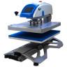 Presse à chaud automatique à ouverture latérale et tiroir coulissant - Brildor XH-B2N de 40x50cm - Vue de côté