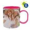 Mug sublimable - Anse et intérieur de couleur - Polymère - Exemple de personnalisation
