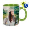 Mug sublimable - Anse et intérieur de couleur - Exemple de personnalisation