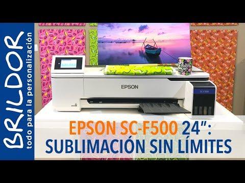 EPSON SC-F500: Sublimación sin límites