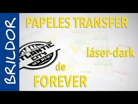 Papel transfer láser dark de Forever