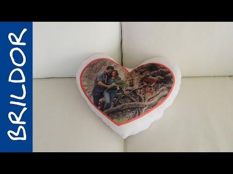 Cómo personalizar un cojín de corazón por sublimación