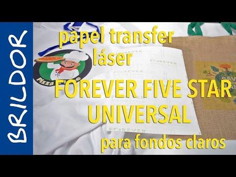Papel transfer láser Forever Five Star Universal