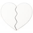 Magnet pour sublimation en forme de cœur brisé - MDF - Lot de 5 unités