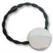 Badges élastique à cheveux - Ø25mm - Noir - Sac de 10 unités
