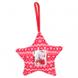 Décoration de Noël en tissu - Étoile