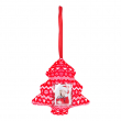 Décoration de Noël en tissu - Sapin