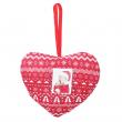 Décoration de Noël en tissu - Cœur
