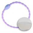 Badges élastique à cheveux - Ø25mm - Violet - Sac de 10 unités