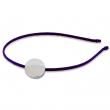 Badges avec serre-tête violet - Ø25mm - Sac de 100 unités
