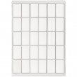 Pions rectangulaires de jeux de société pour sublimation - Gabarit A4 de 30 unités