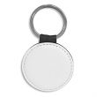 Key Ring - Faux Leather - Round