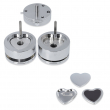 Heart Mould with samples for badge making machines