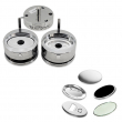 Oval Mould with samples for badge making machines - 65x45mm